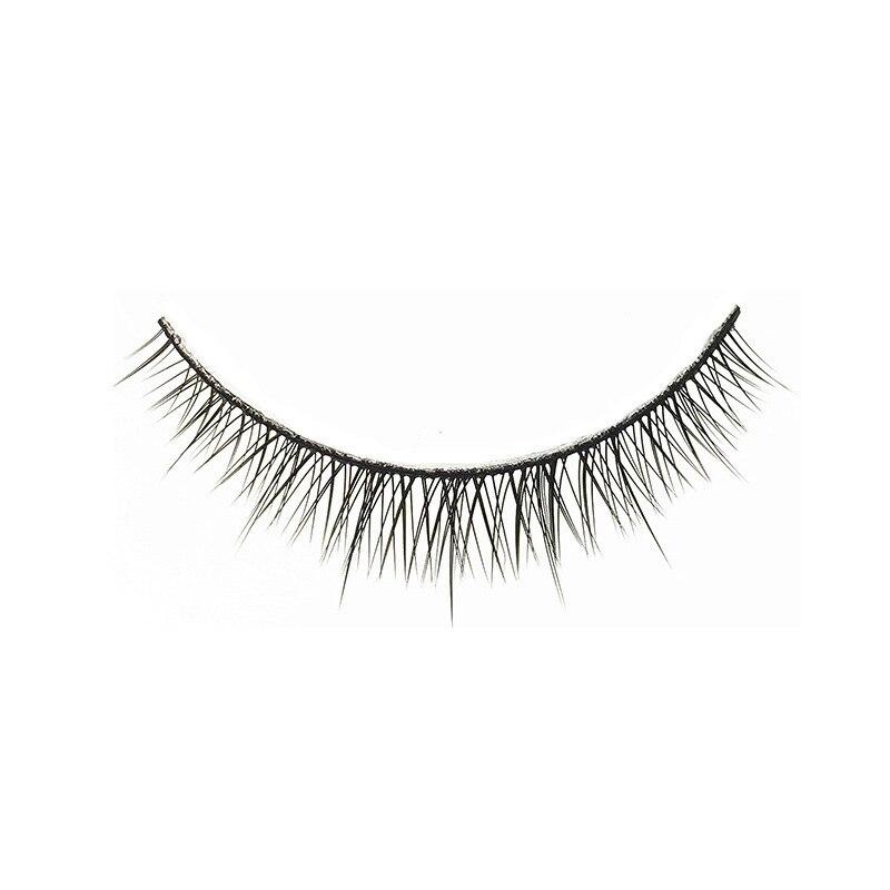 Image 2 - YOKPN Fashion Natural Short Eyelashes Nude Makeup Handmade Cross False Eyelashes Tapered Realistic Fake Eye Lashes 5 Pairs-in False Eyelashes from Beauty & Health