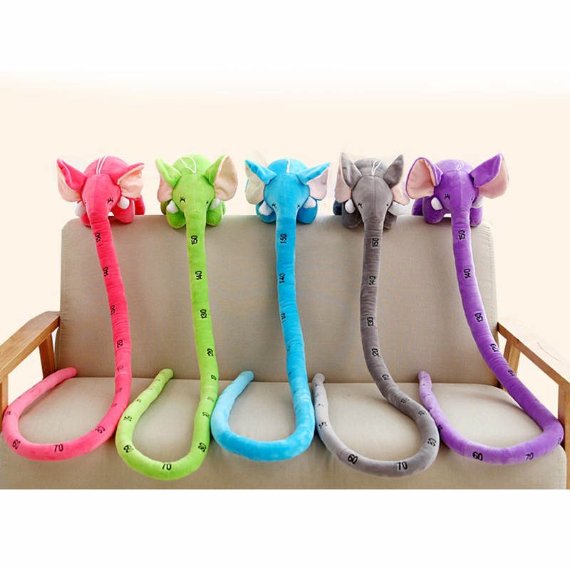 100/150 Cm Long Nose Elephant Random Color Animal Dolls Plush Toys Soft PP Cotton Funny Birthyday Gift For Children Cushion Toy