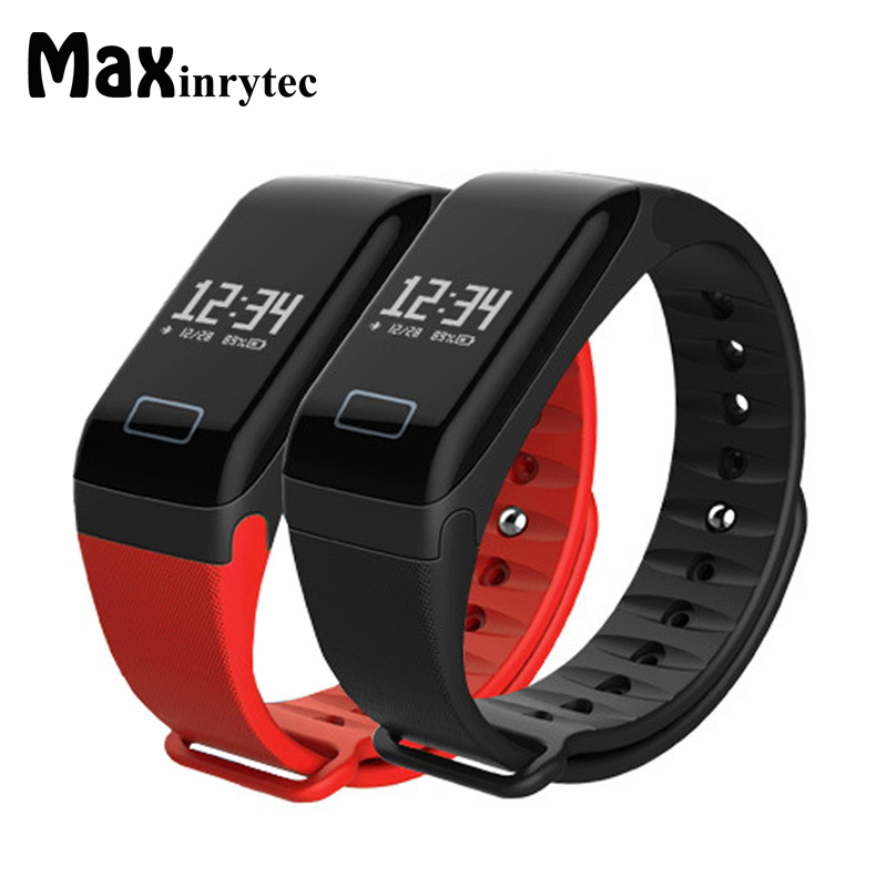 Maxinrytec F1 Smart Wristband Blood Pressure Bracelet Watch Heart Rate Monitor Smart Band Health Fitness Tracker for Android iOS
