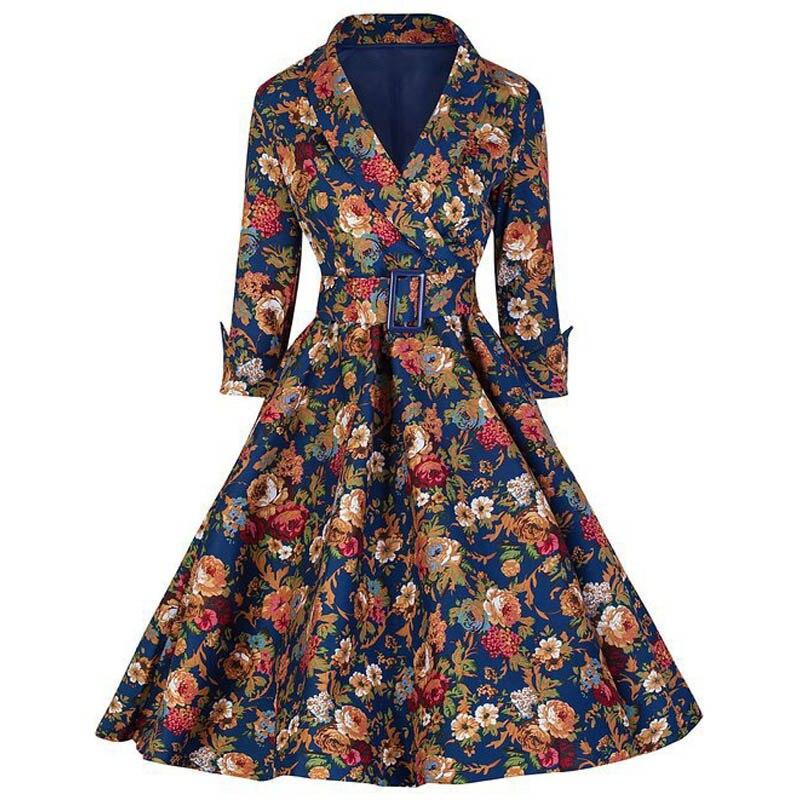 Mulheres Robe Femme Sexy Vestido Do Inverno Do Vintage 1940 s 50 s 60 s Estilo Retro Pin up Rockabilly Swing Party Vestidos vestidos de fiesta