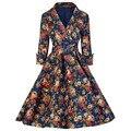 Para mujer Robe Femme Sexy Vestido de Invierno de La Vendimia 1940 s 50 s 60 s Estilo Retro Pin up Rockabilly Swing vestido de Vestidos de Fiesta vestidos de fiesta