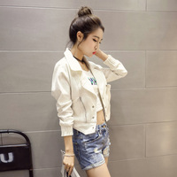 2017 The New Version Of Korean Women S Clothing White Denim Jacket Long Sleeved Fashion Jacket