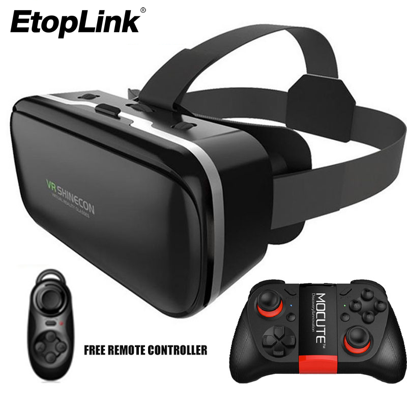Vr shinecon VI 6th 3D VR Очки для 4.7-6.0 дюймов смартфон виртуальной реальности на головке VR коробка шлем видео гарнитура + пульт