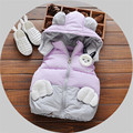 Parkas for Girls Winter 2017 Pink Faux Fur Kids Coat Baby Clothes Cotton Womens Down Jacket Patchwork Pattern Child Outerwear