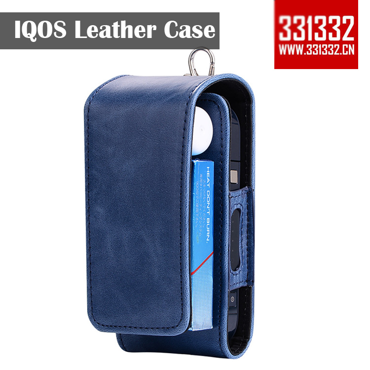 Original 331332 Full Protective Carrying case 4 color Box Card Holder Pouch Bag PU IQOS Leather Case for iQOS E Cigarettes