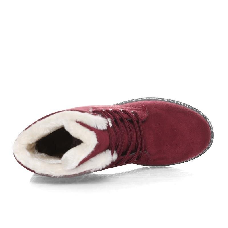 Image 4 - Женские зимние сапоги, зимние теплые женские сапоги, большие размеры, обувь на плоской подошве со шнуровкой, Женская хлопковая обувь на толстом меху, большие размеры 35 44, WSH2461-in Теплые сапоги from Обувь