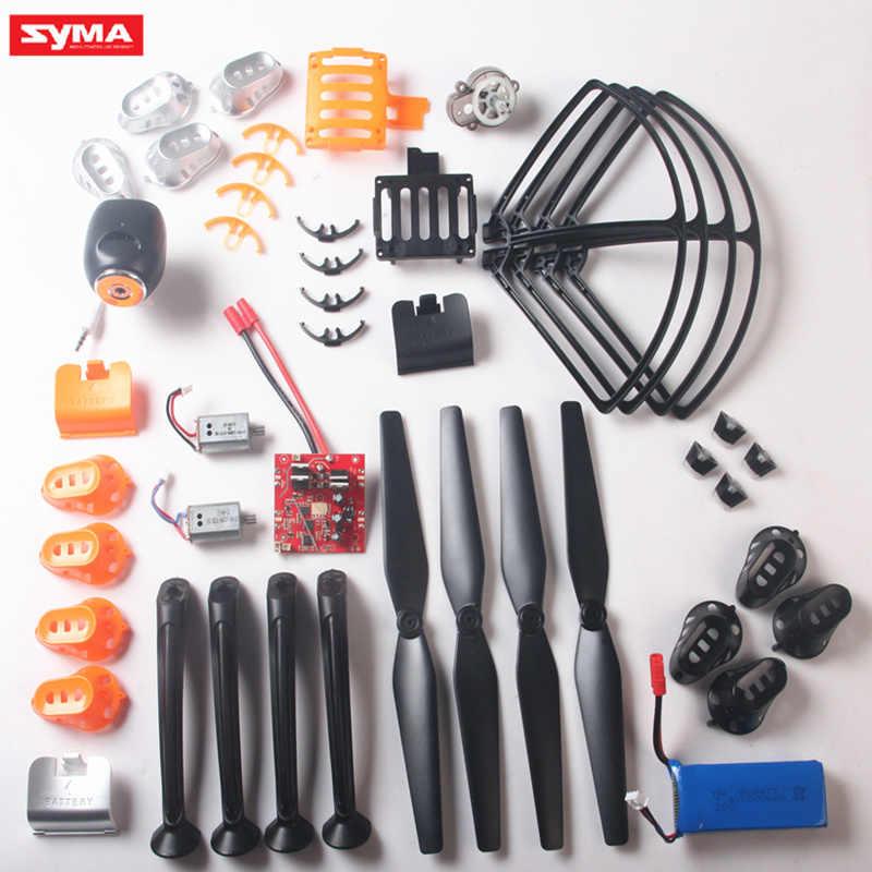 SYMA X8C X8W X8G X8HC X8HW X8HG RC aviones no tripulados de piezas de repuesto de cuadricóptero de la cubierta de la cáscara del Motor hélice de palas de Motor viento de aterrizaje, etc