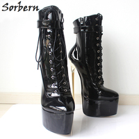 Sorbern Sexy 22Cm/8.7 Fetish Extreme High Heels Pumps Womens Shoes Heels 2018 Stiletto Plus Size Bdsm Party Club Runway Shoes
