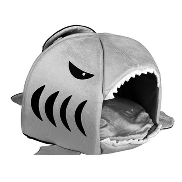 House Pet Dog Warm Soft Sleeping Bag Bed Shark Dog Kennel Cat Bed Cave Cushion Pillow Cute Nest Mat Pet Accessories