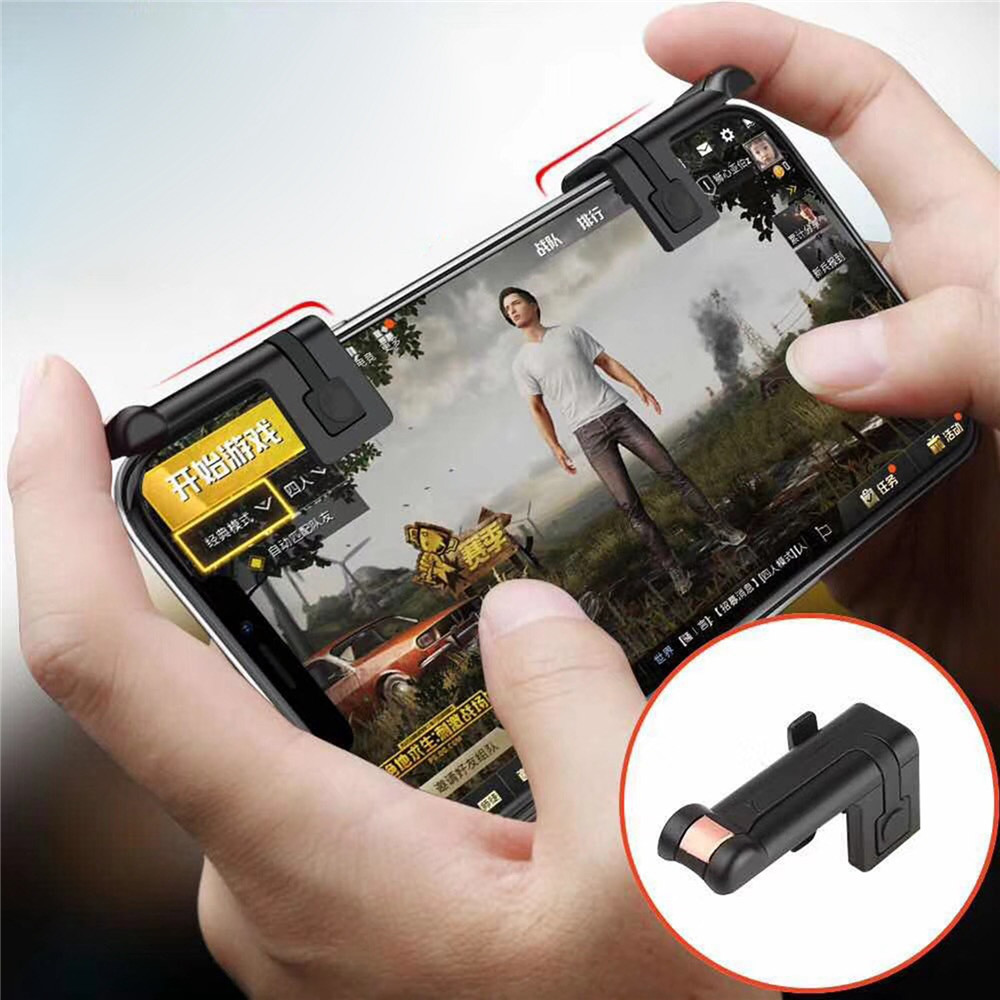 1 pair Mobile Game Fire Button Aim Key for PUBG Rules of Survival Smart phone Mobile Gaming Trigger L1R1 Shooter Controller
