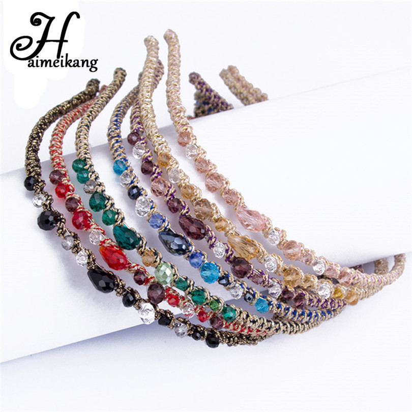 Haimeikang Headwear Rhinestone Crystal Headband Barrettes Hair Clips Hair Band for Women Girls Hairpins Hair Accessories haimeikang women girls bridal wedding crystal flower hairpins accessories headwear hair combs wholesale
