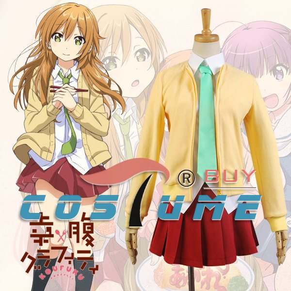 Здесь продается  Gourmet Girl Graffiti Shiina Girls School Uniform Shirt Tie Japanese Anime Cosplay Costume Sweater Coat Dress  Одежда и аксессуары