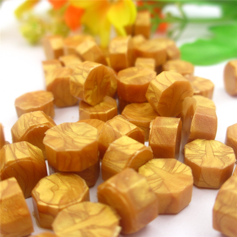 100 pces selo cera da selagem do vintage da madeira do selo da cera do grânulo uso para materiais do selo da cera