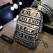 2016 KPOP EXO letter school for teenagers school sports backpacks travel women k pop