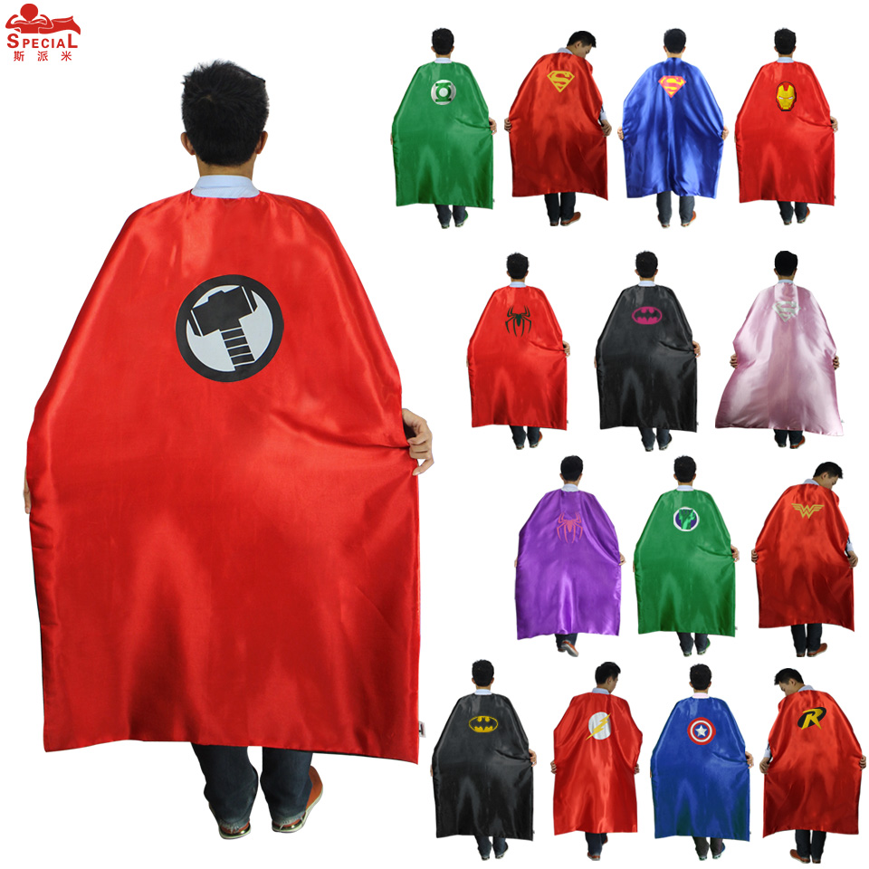 <font><b>15</b></font> <font><b>styles</b></font> SPECIAL L55* <font><b>Adult</b></font> <font><b>Superhero</b></font> <font><b>cape</b></font> costume for birthday party Halloween <font><b>superhero</b></font> costumes cloak mantle decoration