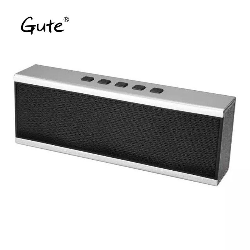 Gute cool Metal texture square Bluetooth speaker radio FM portable aluminum alloy stereo bass TF altavoz caixa de som portatil