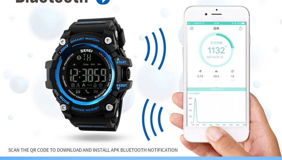 SKMEI Men Smart Watch Pedometer SKMEI Men Smart Watch Pedometer HTB1cXngSXXXXXXkXpXXq6xXFXXXM