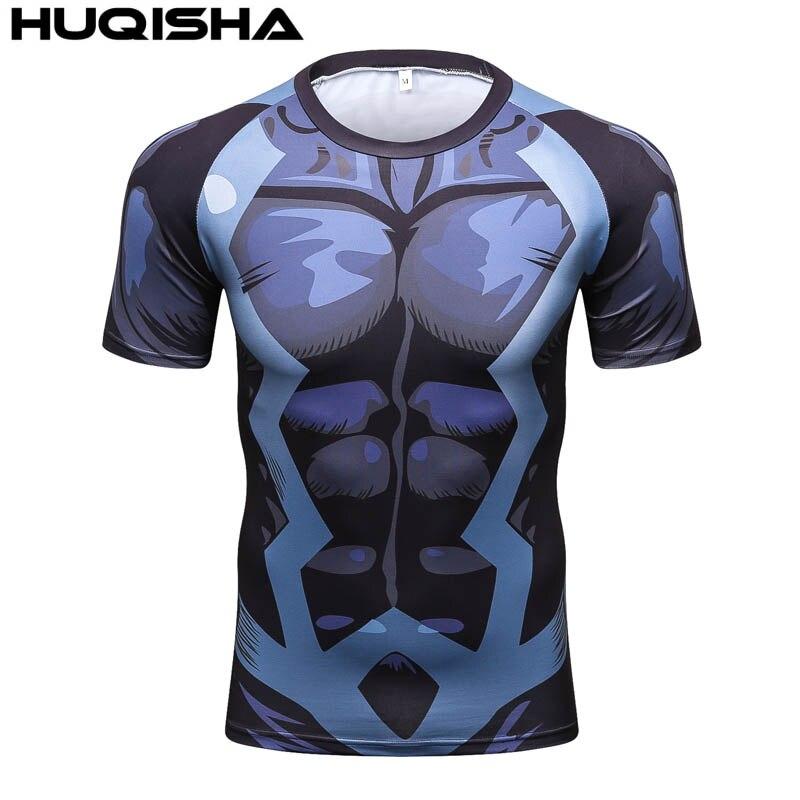 d5988552d9 2017 Novos Homens Da Camisa De Compressão De Fitness Marca de Roupas de  Manga Curta T-shirt Impresso 3D Super Herói Capitão América Marvel T shirt