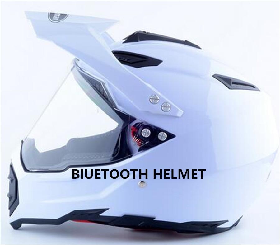 free shipping Bluetooth Motorcycle Motorbike Helmet Intercom Interphone Headset S M L XL XXL motocross white color женское платье other 2015 o vestidos s m l xl xxl