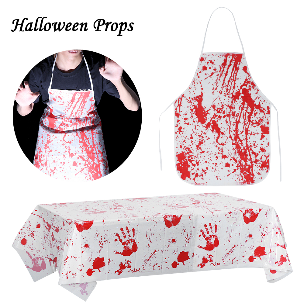 Halloween Blood Hand Print Table Decoration Tablecloth