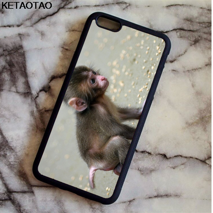 KETAOTAO Orangutan Cute Baby Monkey Phone Cases for iPhone 4S 5C 5S 6 6S 7 8 Plus X for Samsung S8 Case Soft TPU Rubber Silicone