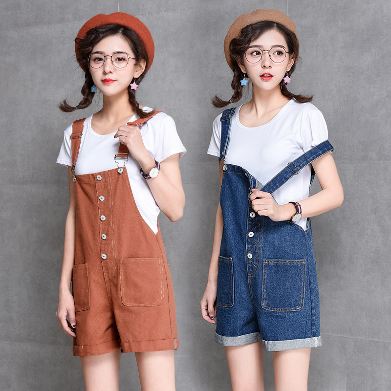Fashion Women Denim   Jumpsuits   Shorts 2018 Summer New Arrival Hot Female Preppy Style Casual Cute Denim Overalls Jeans