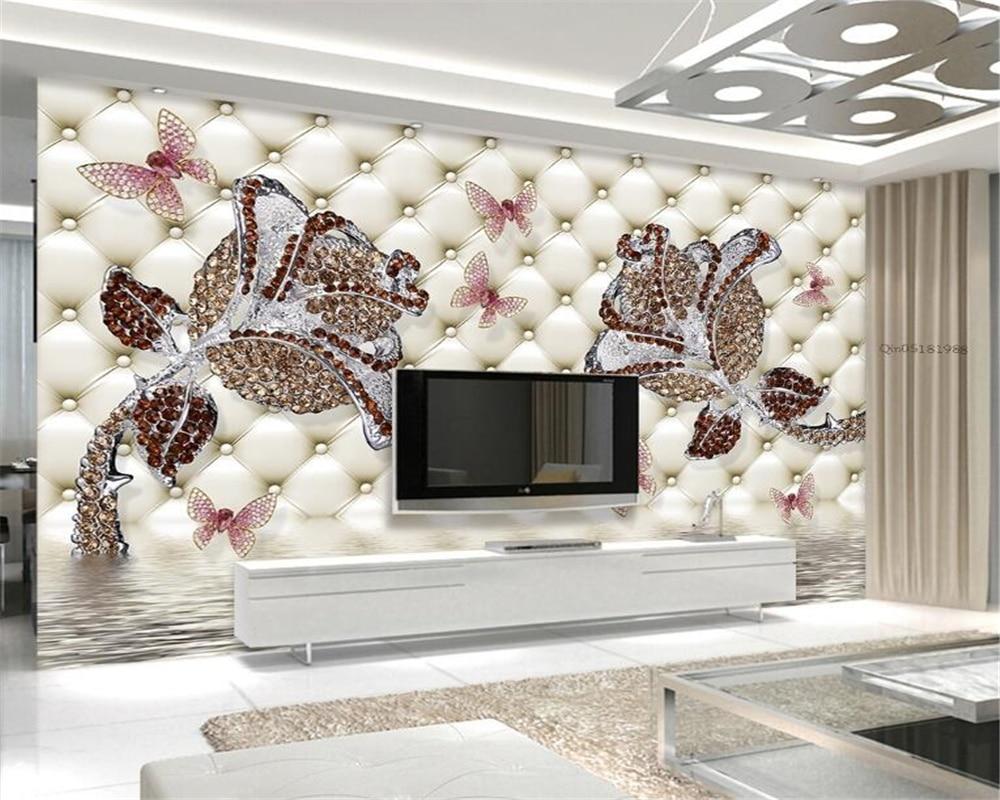 Beibehang Custom 3D photo wallpaper rosette water reflection pen cover murals for living room bedroom background 3D wallpaper