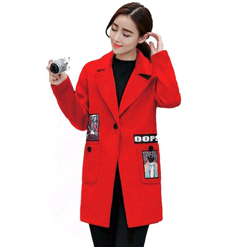 2016 Longue A139 Version Revers Dark D'hiver Et De Cocon Forme Laine Pur pink Automne Femmes red Gray Coréenne Manteau Nouvelle Couleur Section La Veste PH8qwrPx