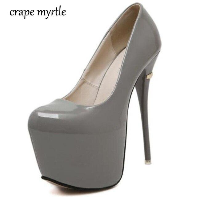 Zapatos rojos de la boda plataforma Bombas extrema Tacones altos 16 cm sexy  Bombas señoras Tacones eca1c55c4b90