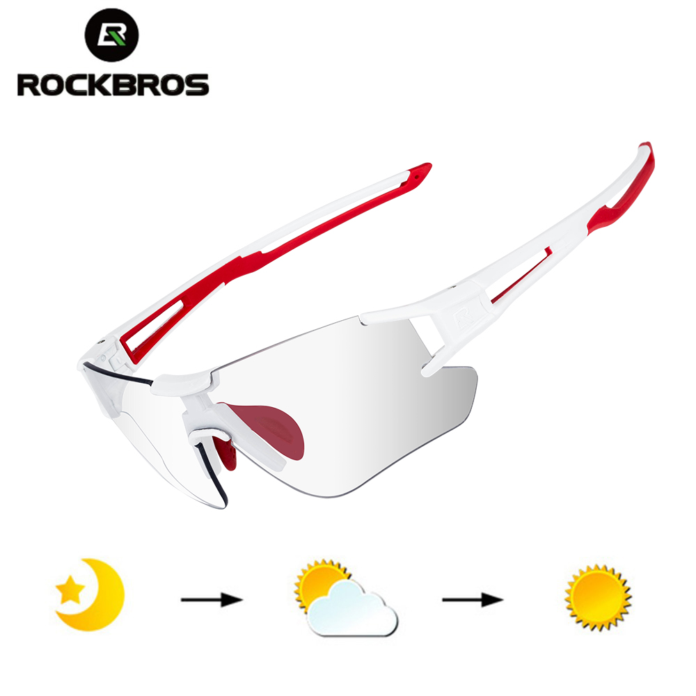 41bfcf579f Gafas de ciclismo de mujeres corriendo gafas Photochromism Rosa Blanco Mtb  montó bicicleta gafas de sol