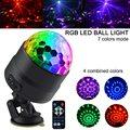 2 пакета RGB LED сценический диско-шар световая лампа для вечеринок Автомобильная Атмосфера свет присоска установка с пультом дистанционного ...