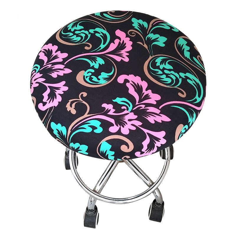 1 шт. круглого покрытия для офисных стульев спандекс эластичный обеденный чехол для сиденья Съемный стрейч чехол для Funda Silla Oficina чехол для кресла