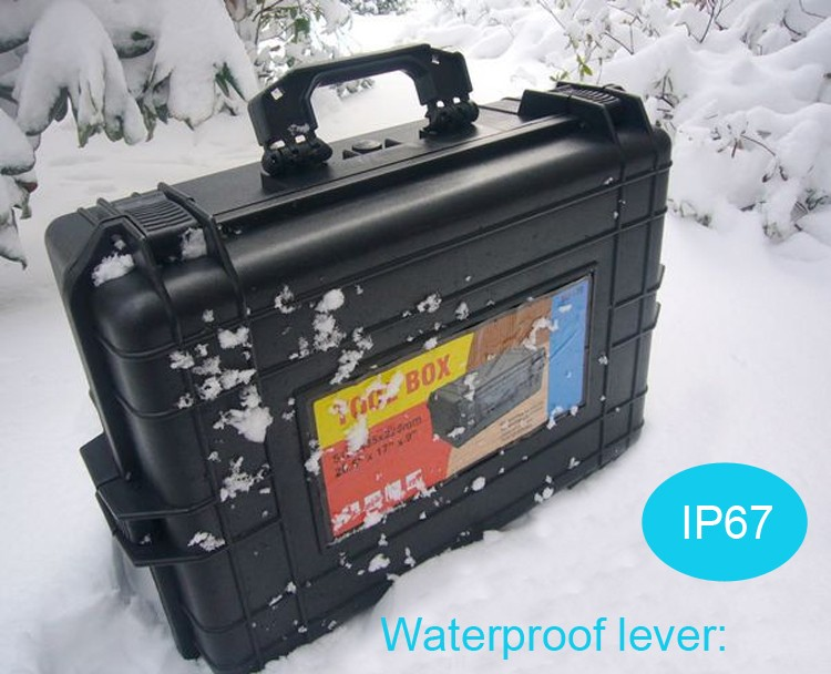 500*350*200MM Waterproof tool case toolbox Camera Case Instrument box suitcase Impact resistant sealed with pre-cut foam lining