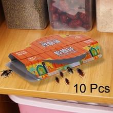 10 шт. устройство для ловли тараканов устройство для уничтожения тараканов дом приманка липкая доска ловушки нетоксичные супер липкие ловушки стикер