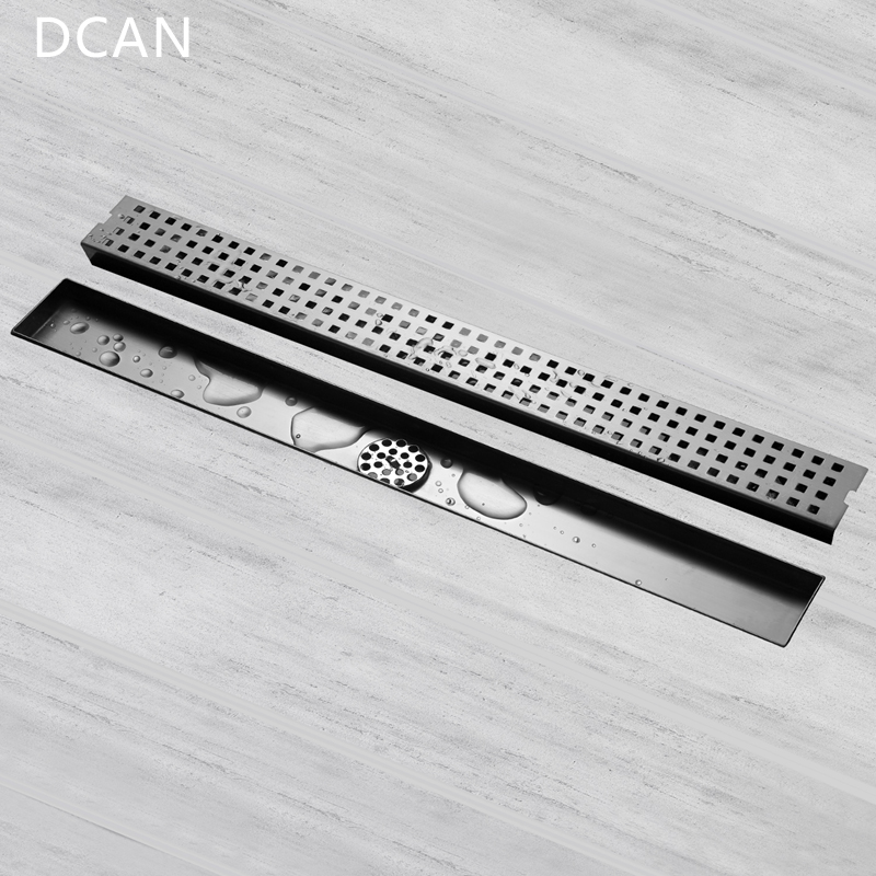 DCAN Stainless Steel Invisible Floor Drain 60cm Grates Waste Linear Tile Insert Deodorization Type Long Drainer Floor Drain