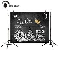 Allenjoy 1st Birthday photo scenografia Wild One Gold Crown Lavagna Baby Shower Sfondo Fotografia In Studio Puntelli Photocall
