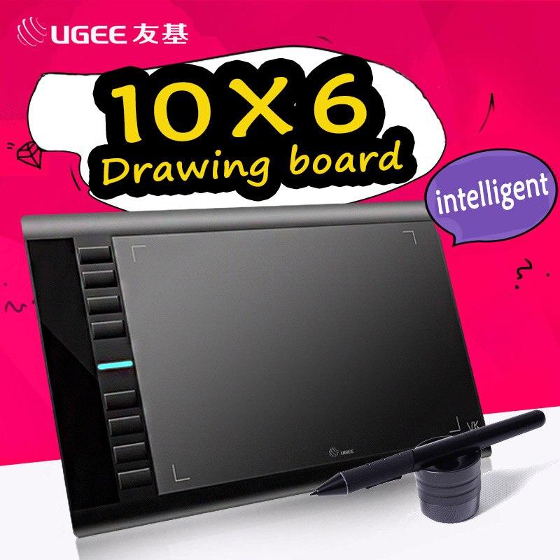 UGEE M708 10x6 pouce Smart Graphique Dessin Tablet Numérique Tablet Signature Pad Dessin Stylo pour Écrire Peinture Pro Designer wacom
