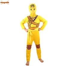 Ninjago Cosplay Costume Boys Clothes Sets Children Clothing Halloween Fancy Party Clothes Ninja Superhero Suits Boys Gift