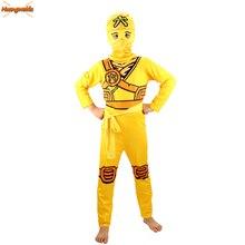 Ninjago przebranie na karnawał zestawy ubrań dla chłopców odzież dla dzieci Halloween fantazyjne ubrania imprezowe Ninja Superhero garnitury chłopięcy prezent
