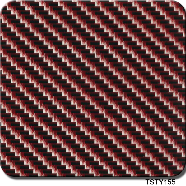 Free Shipping TSAP155 0.5*2m/10m Pva Red Carbon Fiber Water Transfer Printing Hydrographics Film Hydro Dipping Film