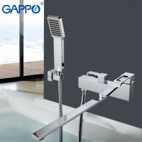 GAPPO Bathtub Waterfall Faucet Mixer Bathroom Taps Wall Mounted Brass Bathtub Mixer Bath Mixer Sink Faucet