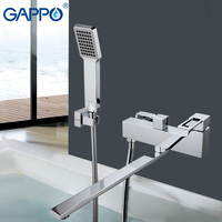 GAPPO Bathtub Waterfall Faucet Mixer Bathroom Taps Wall Mounted Brass Bathtub Mixer Bath Mixer Sink Faucet