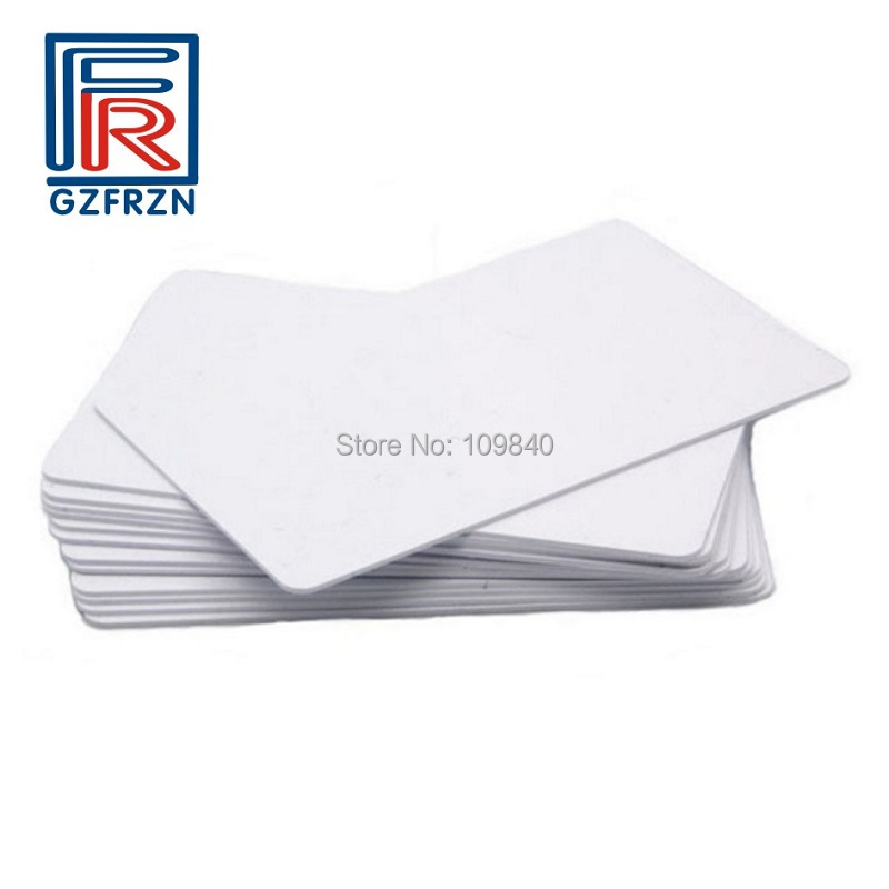 200pcs/lot 125khz RFID Hitag 2 Blank White Card  ISO11784/85 Read-write LF RFID Cards/tag For Identity Recognitiong