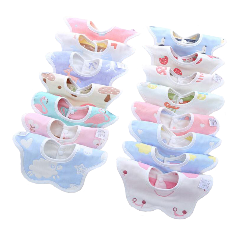 bavoir 10pcs babador do bebe babadores infantil saliva toalha para meninos meninas recem nascidas baberos bebes
