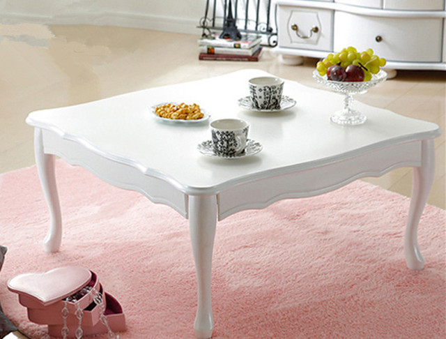 Modernen Koreanischen Holz Land Möbel Couchtisch Beine Faltbare Square 75  Cm Weiß Asiatischen Wohnzimmer Niedrigen Klapptisch Design