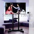 2019 Moving Sit-Stand Desk Workstation TV Mount PS Stand Medical Equipment Trolley for 32-70 TV Max Support 50kg