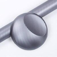1.52 м (ФУТОВ) ширина качество оклеивание foile ПВХ углеродного волокна клей фильм серый Автомобиль Обертывание Стикер Винила Лист Bubble Бесплатн...