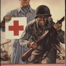 Soporte de la Cruz Roja WW2 América Propaganda Retro Vintage de póster carteles lienzo pintura DIY papel de pared decoración de regalo del hogar