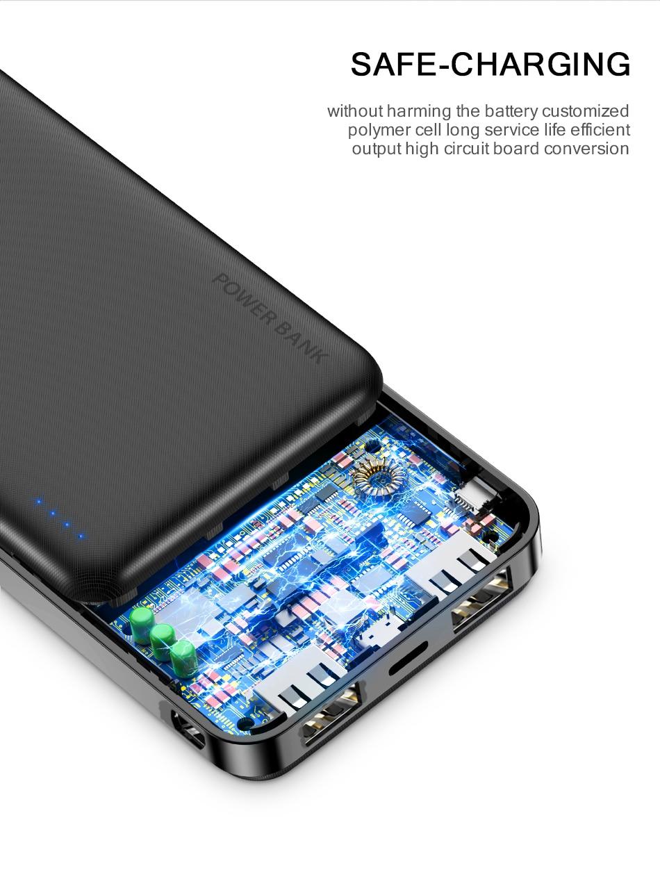 FLOVEME Power Bank 20000mAh Portable Charging Poverbank Mobile Phone External Battery Charger Powerbank 000 mAh for Xiaomi Mi 3