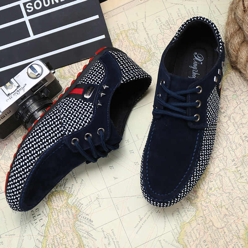 Nieuwe mode Mannen Flats Licht Ademende Schoenen Ondiepe Casual Schoenen Mannen Loafers Mocassins Man Sneakers Peas Zapatos Hombre Schoenen
